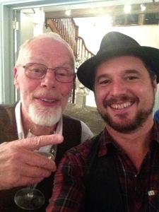 With the wonderful Bob Harris