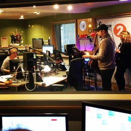 Steve & Jade performing live on BBC Radio 2 (Clare Balding)